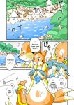 comic eating english_text female fish floatzel forest kemono marine mikazuki_karasu nintendo outside pokémon rock text translated tree video_games water   Rating: Safe  Score: 10  User: KemonoLover96  Date: March 27, 2015