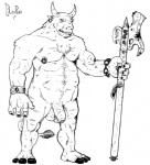 anthro balls biceps blooper_(artist) bovine cattle humanoid_penis male mammal minotaur muscles nipples penis uncut   Rating: Explicit  Score: 1  User: Blooper  Date: February 19, 2013