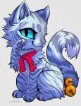 2014 ambiguous_gender bell blue_eyes cat chibi falvie feline fur looking_at_viewer mammal paws plain_background scarf solo white_fur   Rating: Safe  Score: 3  User: XenoFlare  Date: April 06, 2014