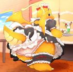 beverage blush bow camel_toe chubby clothing collaboration dragonite female feral food inside looking_at_viewer looking_back maid maid_uniform nervous nintendo panties pantsuneko panty_shot pokémon pussy_juice skirt solo sweat tray underwear upskirt vcrow_shuu video_games wings   Rating: Explicit  Score: 13  User: chdgs  Date: May 24, 2015