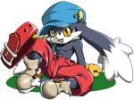 4:3 anthro clothed clothing collar footwear gloves half-dressed hat klonoa klonoa_(series) long_ears male shaolin_bones shoes shorts sitting smile solo topless yellow_eyes   Rating: Safe  Score: 1  User: cowtown  Date: November 03, 2014