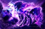 2015 absurd_res aquagalaxy building cutie_mark equine female friendship_is_magic hi_res horn house magic mammal moon my_little_pony princess_luna_(mlp) shield sparkles star tantabus winged_unicorn wings  Rating: Safe Score: 7 User: 2DUK Date: November 14, 2015