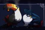 2016 avian bird cigar cigarette corvid crow feral honchkrow nintendo pokémon pseudo_clothing seen_yoko smoke smoking toucan toucannon video_gamesRating: SafeScore: 9User: Rad_DudesmanDate: December 15, 2016
