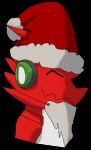 beard bust christmas costume digimon eyes_closed facial_hair happy hat holidays male red_body santa_hat shoutmon solo tamersa   Rating: Safe  Score: 0  User: Test-Subject_217601  Date: December 15, 2011