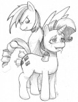 anal black_and_white blush cutie_mark double_penetration drooling duo equine female female/female feral friendship_is_magic fucked_silly hi_res horn mammal monochrome my_little_pony pegasus penetration plain_background pockystix pussy_juice rainbow_dash_(mlp) rarity_(mlp) saliva sex_toy sketch tears unicorn vaginal vibrator white_background wings   Rating: Explicit  Score: 6  User: Falord  Date: September 26, 2012