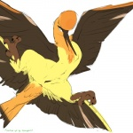 """avian bird female feral paperclip_(artist) pussy solo wings xesnogard_(editor) yellow_eyes  Rating: Explicit Score: 6 User: Xesnogard Date: July 06, 2015"""""""
