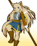 """2009 blue_hair boots canine clothing dog female footwear gradient_background hair kemono long_hair mammal melee_weapon shioinu solo sword weapon  Rating: Safe Score: 2 User: KemonoLover96 Date: June 29, 2015"""""""