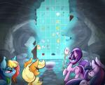 2015 applejack_(mlp) cave cutie_mark earth_pony equine female feral friendship_is_magic group horn horse madacon mammal my_little_pony pegasus polearm pony rainbow_dash_(mlp) staff starlight_glimmer_(mlp) twilight_sparkle_(mlp) unicorn weapon winged_unicorn wings   Rating: Safe  Score: 8  User: Robinebra  Date: April 05, 2015