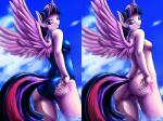 2015 anthro anthrofied anus clothing cutie_mark d-lowell equine feathered_wings feathers female friendship_is_magic fur hair hi_res horn looking_at_viewer mammal multicolored_hair my_little_pony nude purple_feathers purple_fur purple_hair pussy solo swimsuit twilight_sparkle_(mlp) two_tone_hair winged_unicorn wings  Rating: Explicit Score: 12 User: Robinebra Date: September 13, 2015
