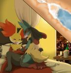 2015 alcohol anthro bed beverage blush bottle canine clothing cum cum_in_pussy cum_inside cumshot cup curtains delphox duo erection female fox fur humanoid_penis ice inner_ear_fluff inside jackal kneeling light lucario lying male male/female mammal mega_evolution mega_lucario night nintendo nude on_bed one_eye_closed open_mouth orange_nose orgasm panting pants penetration penis pillow pokémon pussy sex shadow sharp_teeth spikes spread_legs spreading table teeth tongue vaginal vaginal_penetration vein video_games window wine winick-lim   Rating: Explicit  Score: 21  User: N7  Date: January 24, 2015