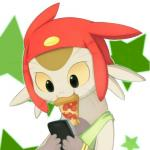1:1 :3 anthro betelgeusian clothing cropped cub felid food hat headgear headwear icon male mammal meow_(space_dandy) phone pizza solo space_dandy sunnynoga young