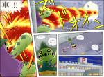 attack black_sclera burning cacturne cactus comic damage feral fight fire flora_fauna harley_(cosplay) hospital japanese_text mammal nintendo plant pokemoa pokémon pokémon_(species) text translated typhlosion video_games yellow_eyes