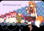 abstract_background alpha_channel animal_humanoid beverage boots breasts brown_eyes candy candy_cane christmas clothed clothing coffee cookie cup dav-19 detailed_background female fluffy fluffy_tail food footwear fox_humanoid fully_clothed fur hair happy holidays hot_chocolate humanoid legwear mammal orange_fur orange_hair patricia_(dav-19) sailor_fuku shirt simple_background sitting skirt smile solo tea_cup tights transparent_background waving