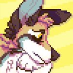 canid canine canis digital_media_(artwork) feral fur male mammal multicolored_body multicolored_fur pixel_(artwork) pixelated sad solo wolf wudo_(wudotcw) wudotcw