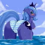 anthro anthrofied blush breasts camel_toe digital_media_(artwork) equine female friendship_is_magic green_eyes horn horse mammal my_little_pony nipples pony presenting princess_luna_(mlp) pussy showing solo sssonic2 water  Rating: Explicit Score: 49 User: TheTrueLiamay Date: July 18, 2014