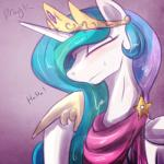 2015 blush clothed clothing dragk equine eyes_closed female feral friendship_is_magic hair horn laugh long_hair mammal multicolored_hair my_little_pony princess_celestia_(mlp) smile solo unicorn   Rating: Safe  Score: 8  User: lemongrab  Date: May 18, 2015