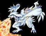 ambiguous_gender blue_eyes claws dragon feral fire fire_breathing fur legendary_pokémon nintendo open_mouth plain_background pokémon reshiram tailzkip teeth tongue video_games white_fur   Rating: Safe  Score: 1  User: GameManiac  Date: March 02, 2015
