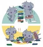 ! ambiguous_gender chair comic duo espurr feline jenga looking_at_viewer mammal nintendo pokémon video_games シダ植物   Rating: Safe  Score: 5  User: iceenvy  Date: March 29, 2014