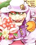 1boshi anthro barazoku blush bouquet bowser claws close-up clothed clothing first_person_view flora_fauna hat headgear horn japanese_text king koopa looking_at_viewer male mario_bros nintendo open_mouth piranha_plant plant proposal red_eyes royalty scalie sharp_claws sharp_teeth shell smile spikes super_mario_odyssey teeth text tongue top_hat translated tuxedo video_gamesRating: SafeScore: 5User: ThisIsGospelDate: July 26, 2017