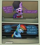 2016 comic dialogue duo english_text equine female friendship_is_magic hair hi_res mammal marsminer multicolored_hair my_little_pony open_mouth papers_please pegasus rainbow_dash_(mlp) rainbow_hair text twilight_sparkle_(mlp) wings  Rating: Safe Score: 9 User: MarsMiner Date: January 24, 2016