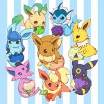 berry eevee eeveelution espeon flareon glaceon huiro jolteon leafeon nintendo pokémon umbreon vaporeon video_games   Rating: Safe  Score: 3  User: slyroon  Date: March 10, 2014