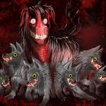 2014 ambiguous_gender blood boner_killer canine claws creepy creepypasta crossover dog feral fur grey_fur grin group husky looking_at_viewer mammal mightyena nightmare_fuel nintendo pokemonfromhell pokémon poochyena red_eyes red_theme smile smile.dog teeth video_games yellow_eyes  Rating: Questionable Score: 9 User: ThatOnePorcupine Date: November 26, 2014