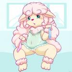 blue_eyes blush canine caprine clitoris clothed clothing cub dog female hair half-dressed loli mammal maverick navel nipples panties paws pink_hair pussy sheep sheepdog solo spread_legs spreading underwear young  Rating: Explicit Score: 9 User: SirBrownBear Date: October 13, 2015