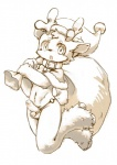 anthro antlers balls bell cervine christmas collar hat holidays hooves horn kemoisumi looking_at_viewer male monochrome navel open_mouth penis pixiv reindeer sack santa_hat solo uncut young   Rating: Explicit  Score: 4  User: Blinx_the_Cat  Date: January 21, 2014