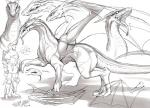 all_fours ambiguous_gender dragon forked_tongue human japanese_text kikurage mammal model_sheet monochrome reptile scalie snake text tongue translation_request wings  Rating: Safe Score: 4 User: Nuji Date: October 13, 2015