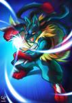 black_fur blue_fur canine chobi-pho energy fur lucario mammal mega_evolution mega_lucario nintendo open_mouth orange_eyes pokémon red_fur solo spikes teeth tongue video_games yellow_fur  Rating: Safe Score: 4 User: N7 Date: October 05, 2015