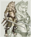 afd-yred canine digitigrade gladiator kouta male pixiv_fantasia_iv solo sword warrior weapon wolf zoom_layer   Rating: Safe  Score: 8  User: underwolf  Date: March 29, 2010