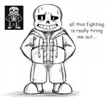 animated_skeleton bone clothing english_text hoodie male monochrome not_furry sans_(undertale) skeleton slippers smile solo sweat text toono_(artist) undead undertale video_games