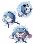 ambiguous_gender blue_body feral looking_at_viewer nintendo open_mouth pokémon poliwag poliwhirl poliwrath simple_background standing steven-andrew video_games white_background white_belly