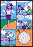 anthro clothed clothing comic duo english_text equine eyes_closed feathered_wings feathers female friendship_is_magic hi_res horn linedraweer lyndor mammal my_little_pony navel outside pegasus rainbow_dash_(mlp) speech_bubble text twilight_sparkle_(mlp) winged_unicorn wings  Rating: Safe Score: 7 User: JGG3 Date: April 17, 2016