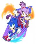 anthro blaze_the_cat blue_fur cat duo feline fire fur green_eyes hedgehog mammal purple_fur so0oper sonic_(series) sonic_the_hedgehog yellow_eyes  Rating: Safe Score: 3 User: Rad_Dudesman Date: November 17, 2015