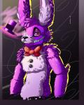 bow_tie buttons fan_characters five_nights_at_freddy's hairs hat hiyoko-art hiyoko_art invalid_color invalid_tag lagomorph magical male mammal rabbit semi_body smile smirk video_games  Rating: Safe Score: 0 User: Hiyoko_art Date: April 28, 2016