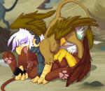 2016 69_position absurd_res anal anal_penetration anus ass_up avian beak brown_feathers brown_fur claws clitoris duo feathered_wings feathers female female/female feral friendship_is_magic fur gilda_(mlp) greta_(mlp) gryphon half-closed_eyes hi_res hoof34 looking_back lying my_little_pony on_back oral outside pawpads paws penetration pussy saliva saliva_string scarf sex sex_toy spread_legs spreading tail_tuft tongue toying_partner tuft wing_boner wingsRating: ExplicitScore: 23User: cinnamon365Date: July 23, 2017