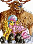 anthro cervine crossover duo equine female feral fluttershy_(mlp) friendship_is_magic grin hat horse irie-mangastudios looking_at_viewer male mammal my_little_pony one_piece pegasus pony reindeer tony_tony_chopper wings   Rating: Safe  Score: 7  User: IrieMangaStudios  Date: February 05, 2015