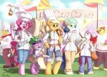 2012 anthro anthrofied applejack_(mlp) avian blonde_hair blue_eyes bonbon_(mlp) chef clothed clothing cook cub derpy_hooves_(mlp) dragon earth_pony equine eyewear facial_hair feathers female food freckles friendship_is_magic fur glasses green_eyes group gryphon gustave_le_grand_(mlp) hair hammer headband horn horse loose_feather male mammal muffin multicolored_hair mustache my_little_pony orange_fur outside pegasus pink_fur pink_hair pinkie_pie_(mlp) pony pony_joe_(mlp) purple_eyes quill red_hair scalie siden spike_(mlp) thumbs_up tools twist_(mlp) two_tone_hair unicorn white_fur wings yellow_eyes young  Rating: Safe Score: 27 User: Kholchev Date: November 17, 2012""