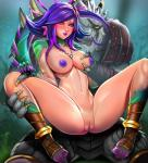 2018 4_fingers 4_toes 5_fingers animal_humanoid anthro areola badcompzero_(artist) blush breast_grab breasts butt butt_from_the_front censored chameleon_humanoid claws clothed clothing digital_media_(artwork) duo eyewear felid female flower flower_in_hair fur hair hand_on_breast hi_res humanoid humanoid_focus jewelry league_of_legends lion lizard_humanoid looking_at_viewer male male/female mammal mosaic_censorship navel necklace neeko_(lol) nipples nude pantherine plant purple_hair pussy rengar_(lol) reptile reptile_humanoid riot_games scalie scalie_humanoid short_hair simple_background spreading spread_legs teeth thick_thighs toes vastaya video_gamesRating: ExplicitScore: 0User: NarcolepsyStormDate: May 20, 2019
