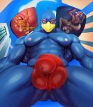 abs anthro anus backsack ball_lick balls beak biceps big_muscles blue_eyes building bulge butt canine clothed clothing cloud eye_markings falco_lombardi feathers fox fox_mccloud fur hi_res humanoid_penis inside_underwear justmegabenewell licking low-angle_view macro male male/male mammal micro micro_on_macro muscular muscular_male nintendo nipples nude oral pecs penis penis_lick penis_outline sex size_difference sky smile speedo star_fox swimsuit tongue tongue_out topless urethral_play vein video_games wolf wolf_o'donnell  Rating: Explicit Score: 13 User: Sovrim Date: December 03, 2015