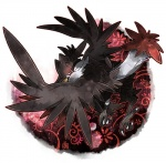 ambiguous_gender avian beak bird black_feathers claws corvid feathered_wings feathers feral honchkrow kann1kura_(kanna) looking_back nintendo pokémon red_eyes simple_background solo talons toe_claws toes video_games wingsRating: SafeScore: 5User: MMOXDate: May 13, 2017