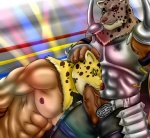 abs armor armor_king balls biceps big_muscles big_penis bound clothed clothing duo erection eurobeat fangs feline fellatio fighting_ring fur green_eyes half-dressed human king_(tekken) leopard male male/male mammal mask muscles nipples nude oral pecs penis royalty scar sex tekken thick_penis topless vein whiskers  Rating: Explicit Score: 7 User: Kakuya Date: November 08, 2012