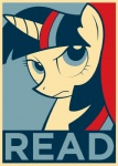 election equestria-election equine female feral friendship_is_magic horn literacy mammal my_little_pony poster propaganda reading shepard_fairey solo twilight_sparkle_(mlp) unicorn   Rating: Safe  Score: 4  User: Anomynous  Date: June 19, 2011