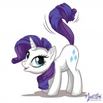 ass_up blue_eyes cutie_mark digital_media_(artwork) equine female feral friendship_is_magic fur hair horn mammal my_little_pony mysticalpha open_mouth plain_background purple_hair raised_tail rarity_(mlp) solo unicorn white_background white_fur   Rating: Safe  Score: 10  User: Granberia  Date: October 10, 2012