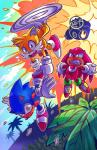 2017 absurd_res anthro canine clothing cloud cmyknova dipstick_tail dizzy dr._eggman echidna explosion footwear fox fur gloves group hedgehog hi_res human knuckles_the_echidna male mammal miles_prower monotreme multicolored_tail open_mouth outside sonic_(series) sonic_the_hedgehog spikes sweat teeth tree video_games white_fur yellow_furRating: SafeScore: 0User: Cane751Date: November 23, 2017