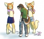 anthro blush bra breasts cabbit canine cat clothing cub drychicken embarrassed feline female flashing flat_chested freckles fur hair hybrid lagomorph loli male mammal nipples presenting rabbit skirt smile underwear young   Rating: Questionable  Score: 39  User: gaunt0  Date: February 21, 2015