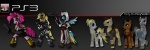 altaïr_ibn-la'ahad applejack_(mlp) armor assassin assassin's_creed clothed clothing crossover cutie_mark earth_pony equine ezio_auditore female feral friendship_is_magic group gun hair half-dressed horse konami kratos male mammal metal_gear multicolored_hair my_little_pony pegasus pinkie_pie_(mlp) playstation pony purple_eyes rainbow_dash_(mlp) ranged_weapon reptile scalie snake solid_snake video_games weapon wings  Rating: Safe Score: 4 User: NormanLee Date: December 24, 2011