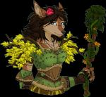 alpha_channel anthro armor branches canine claws clothed clothing female flower hair leaves long_hair looking_at_viewer maheylah_(artist) mammal melee_weapon plant rose smile solo staff teeth video_games vines warcraft weapon were werewolf wolf worgen world_of_warcraft  Rating: Safe Score: 14 User: random_person Date: September 30, 2015