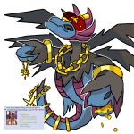 4chan ambiguous_gender bling chain coin crown dragon feral gold_(metal) gold_coin gold_jewelry hoard hydreigon jewelry mega_evolution money necklace nintendo pokémon solo tail_jewelry treasure_hoard video_gamesRating: SafeScore: 5User: Lord-HydreigonDate: September 06, 2017